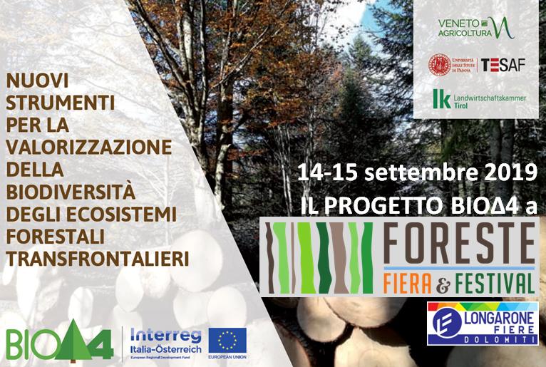 BIOΔ4 presente alla FIERA E FESTIVAL DELLE FORESTE – 14/15 settembre, Longarone Fiere